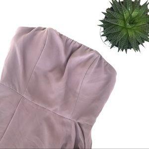 Lulus Strapless Dusty Purple Formal Dress